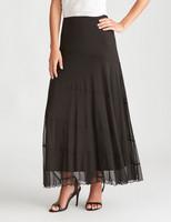 Liz Jordan Mesh Skirt Panel Detail - Jet Black - L