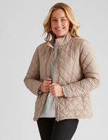Rivers Quilted Jacket - Stone - 16