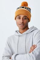 Cotton On Men - Pom Pom Skate Beanie - Gold/green new york