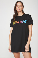 Factorie - Tshirt Dress With Mesh Panel - Offline mesh panel
