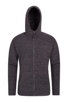 Mountain Warehouse Snowdon Mens Micro Fleece Hoodie - Grey