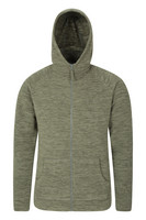 Mountain Warehouse Snowdon Mens Micro Fleece Hoodie - Green