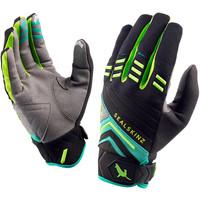 SealSkinz Dragon Eye Trail Gloves - L Black - Lime | Gloves